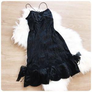 Manoush 100% silk lace up strappy dress S